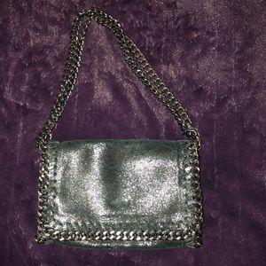 Black metallic crossbody bag